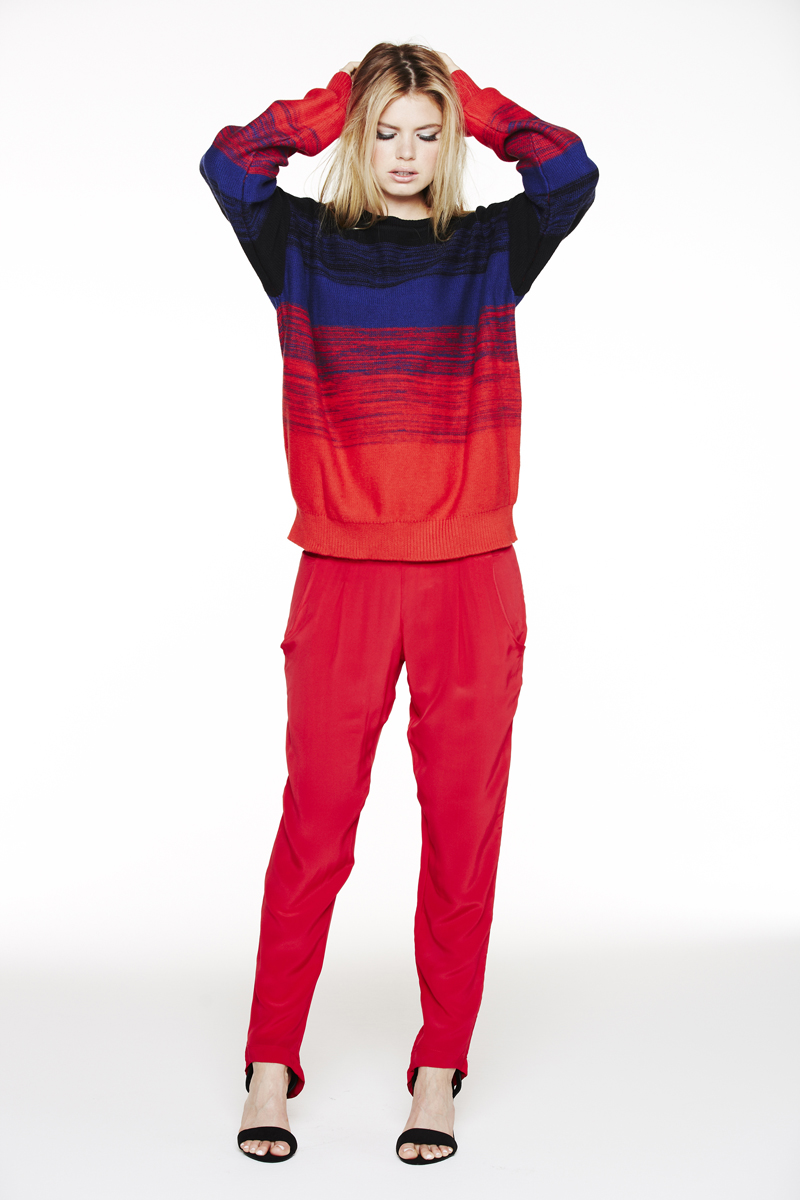 LNA Holiday 2013 Donnie Sweater and Alexa Silk Pant