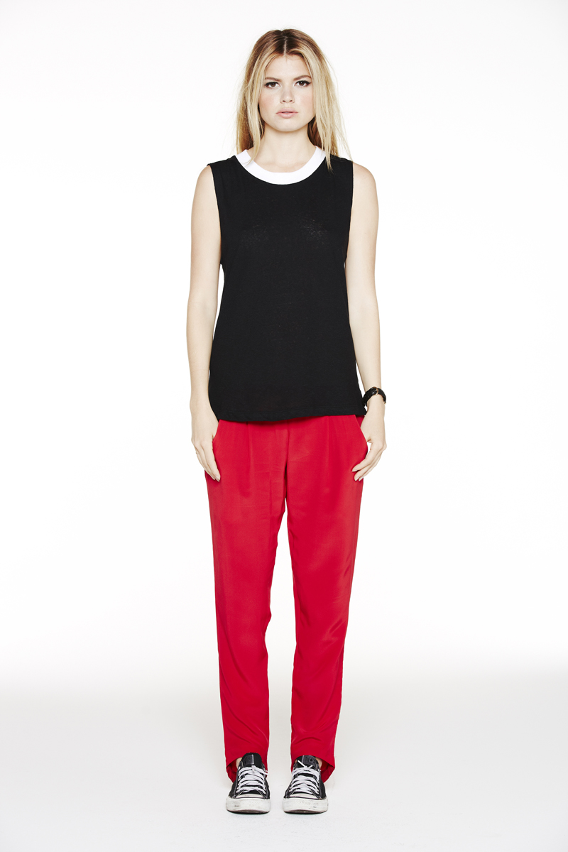 LNA Holiday 2013 Ringer Sleeveless and Alexa Silk Pant