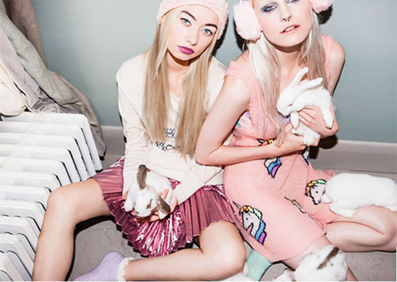 MTV District ashion shoot featuring super cute bunnies the Wildfox Starlite Star Bright Summer Tank