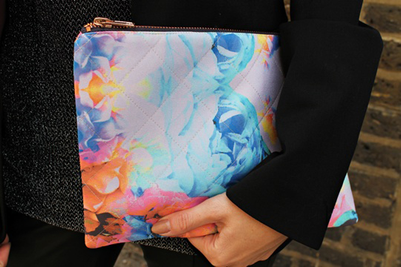 Close up of the clutch on Rosie's blog At Fashion Forte