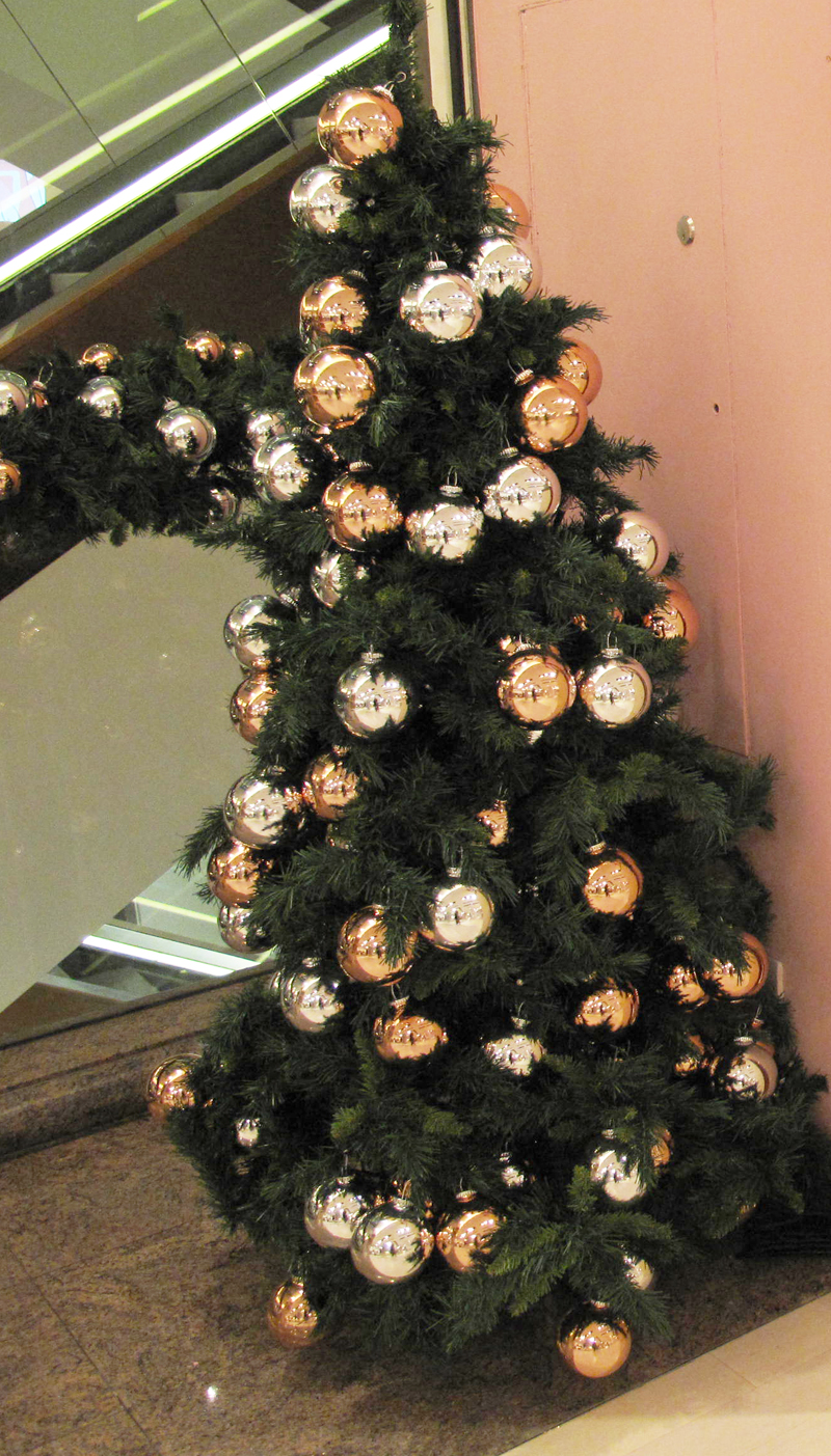 selfridges nightwear department christmas tree wildfox