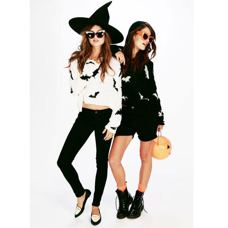 wildfox halloween bat crop hoodie