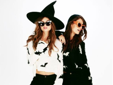 wildfox halloween bat crop hoodie_Featured
