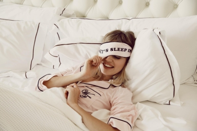 Wildfox PJs Holiday 2013 Lets Sleep In Eye Mask and Dreamer Sleepshirt
