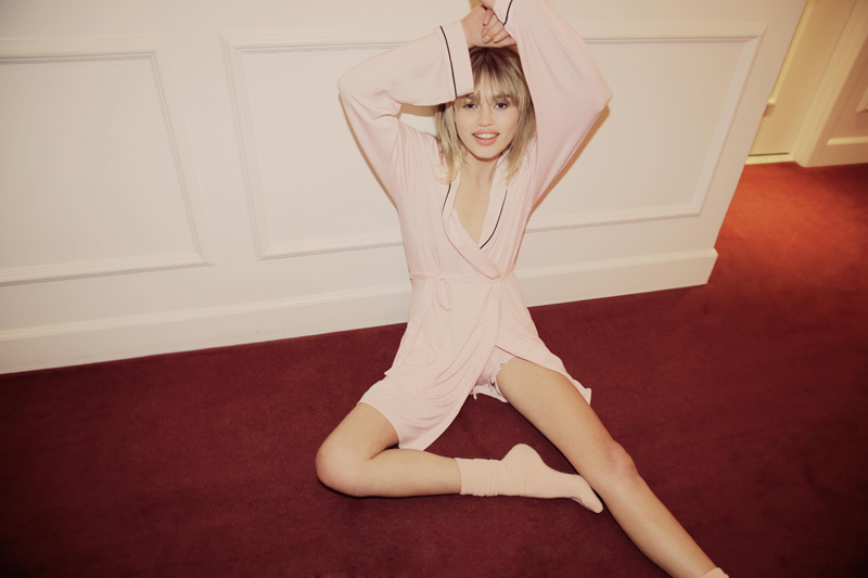 Wildfox PJs Holiday 2013 Never Get Dressed Robe Room Service