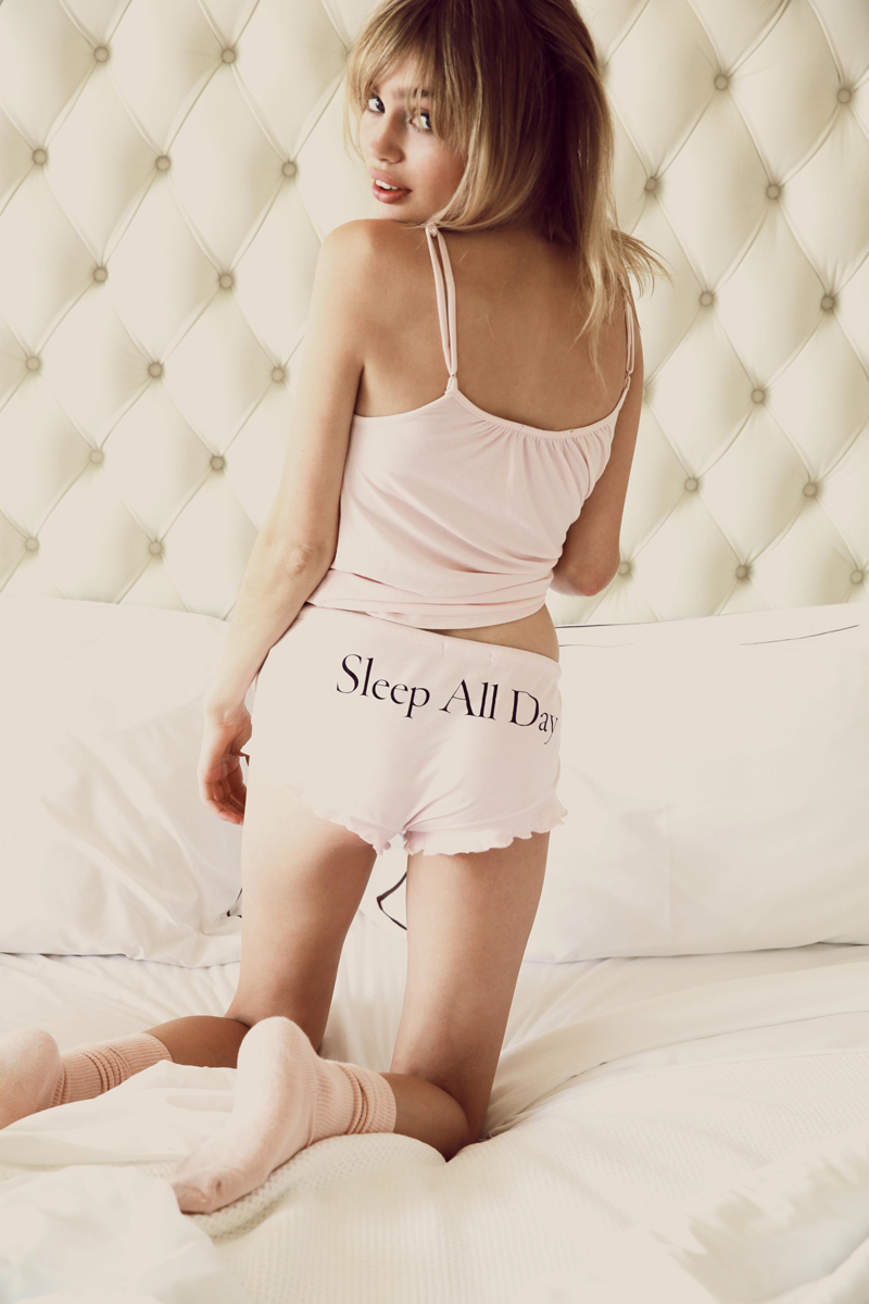 Wildfox PJs Holiday 2013 Stay Up All Night and Sleep All Day Cami Set 2