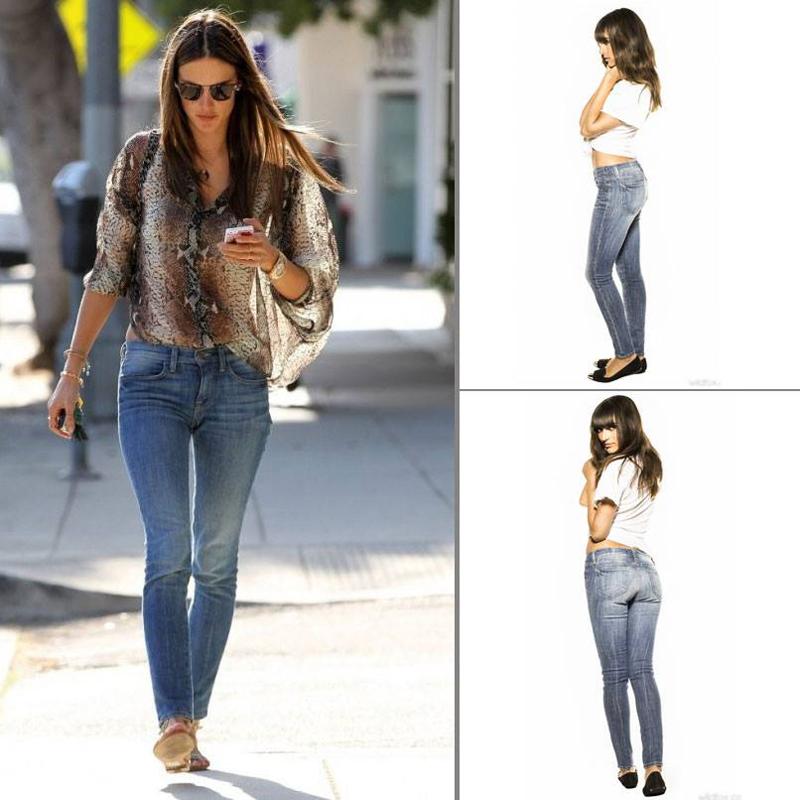 Alessandra Ambrosion in Wildfox Denim Marianne Jeans in Spellbound