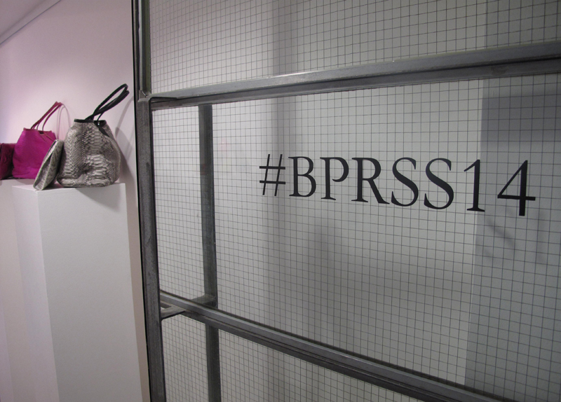 b pr hashtag at press day at white space gallery for finders keepers fashion label