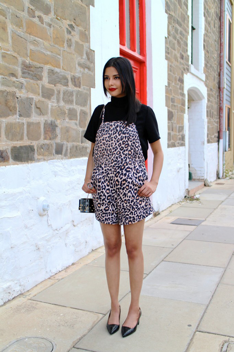 Crystal-Dench-Denchibitionist-Finders-Keepers-the-Label-Underground leopard print playsuit
