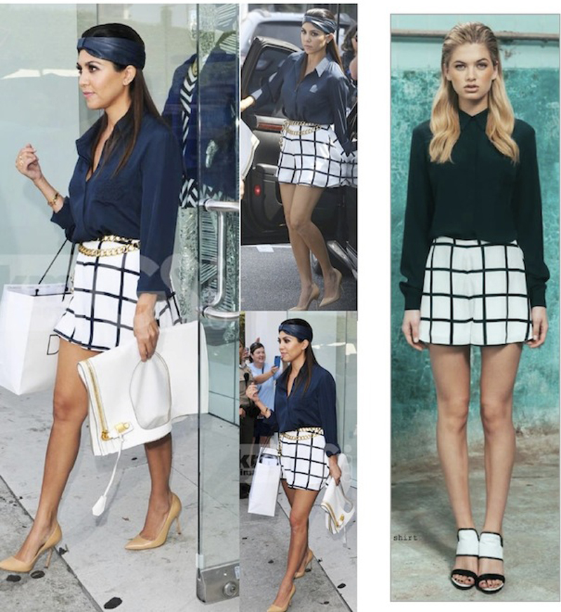 KOURTNEY Kardashian Wears findersKEEPERS (point break) tunnel vision long sleeve shirt and shorts