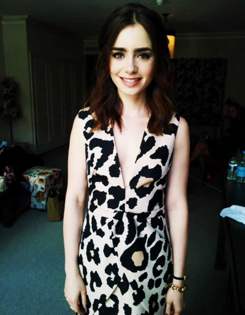 Lily Collins Paper Ships Dress by finders keepers fashion label