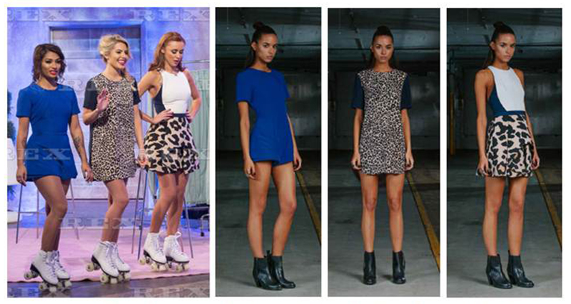 The Saturdays wearing Finders Keepers fashion label