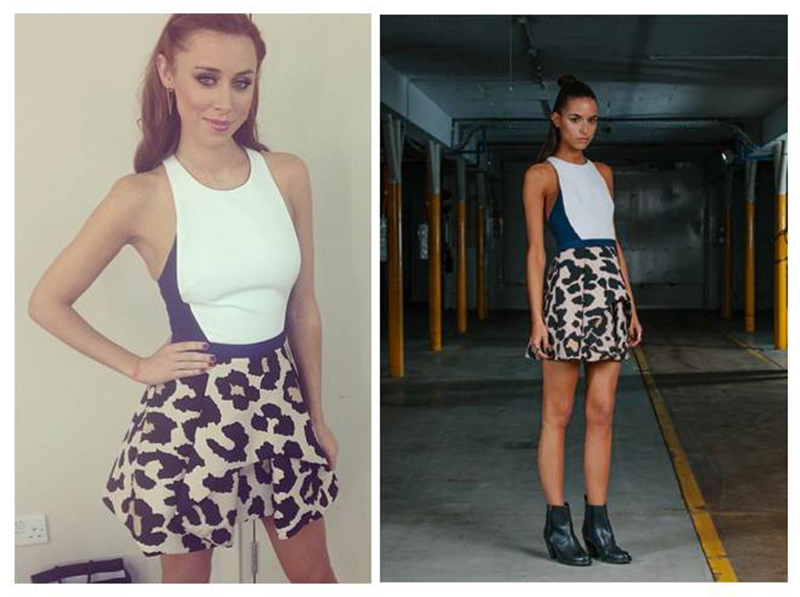 una healy wearing the departed dress