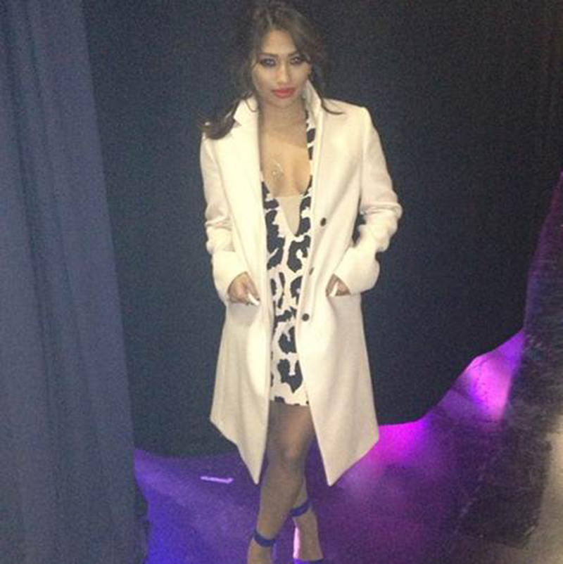 Vanessa White from The Saturdays wearing Finders Keepers
