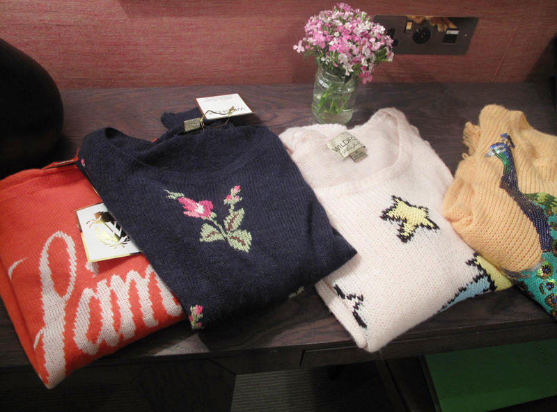 Wildfox jumpers in the gifting su;ite