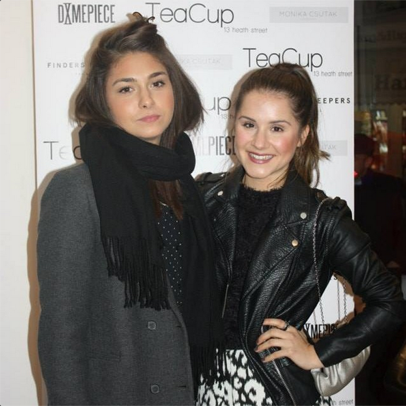 Carinna Maggar and Electra Formosa at Teacup Boutique Hampstead party