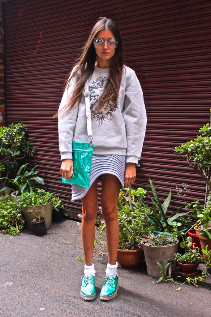 How Two Live in the Finders Keepers Million Dollar Baby Skirt in grey