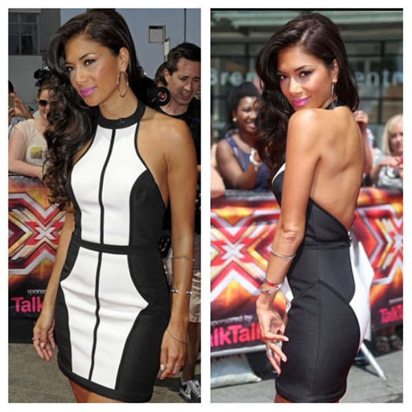nicole scherzinger finders keepers winter birds dress