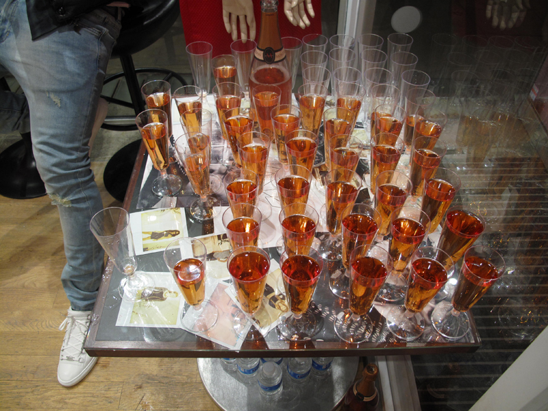 rose champagne at teacup boutique hampstead party