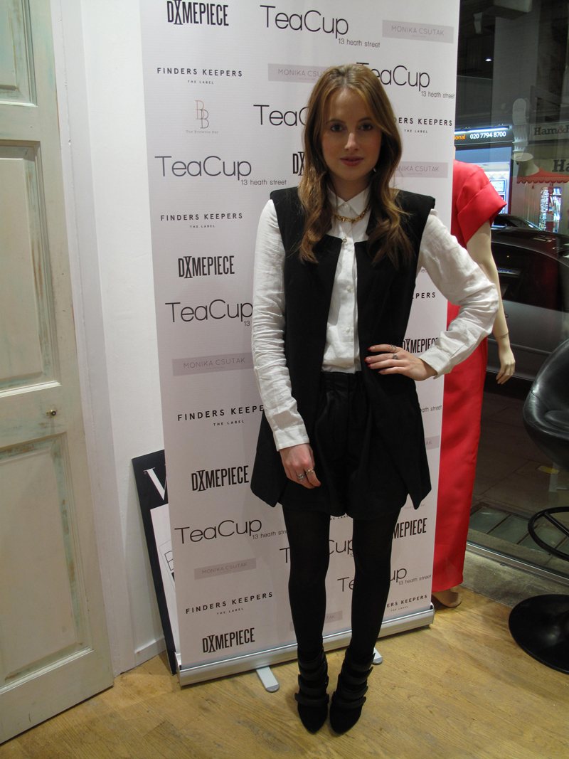 Rosie Fortescue at Teacup Boutique event