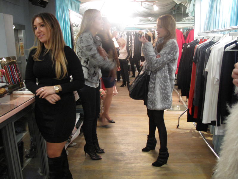 rosie fortescue at teacup boutique hampstead party