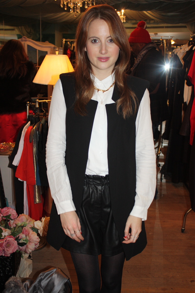 Rosie Fortescue at Teacup Boutique party