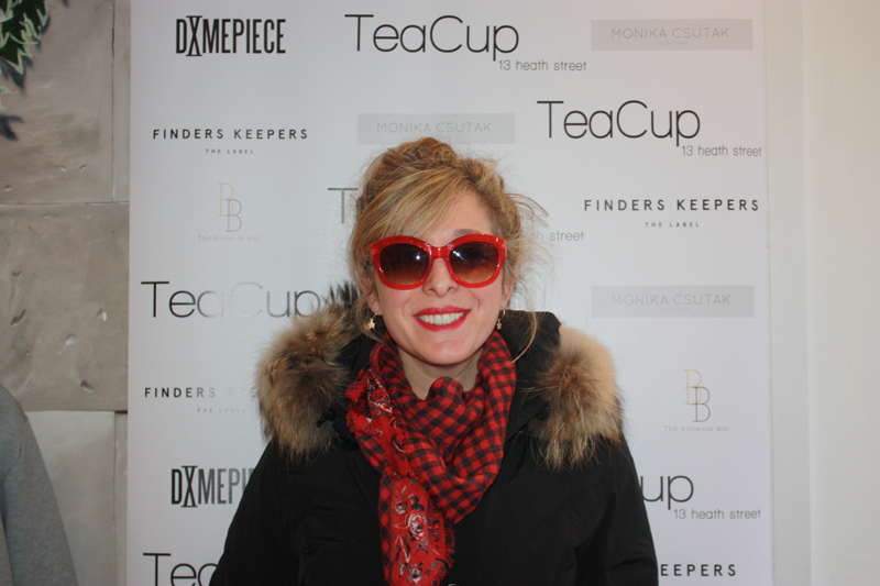 Tracy-Ann Oberman at Teacup Boutique party