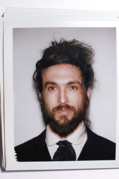 Alex Ebert 2014 beard and bun