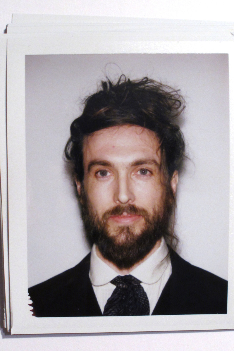 Alex Ebert 2014 beard and bun