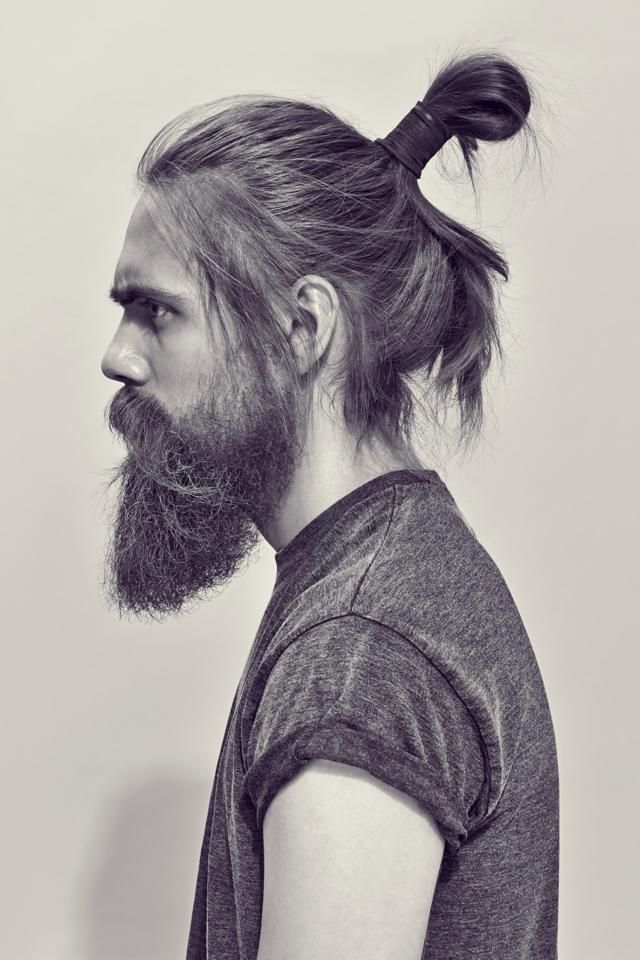 Beard and bun 3