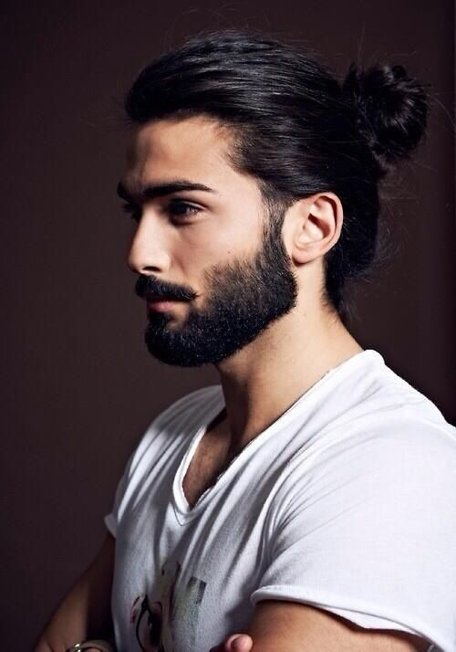 Beard and bun