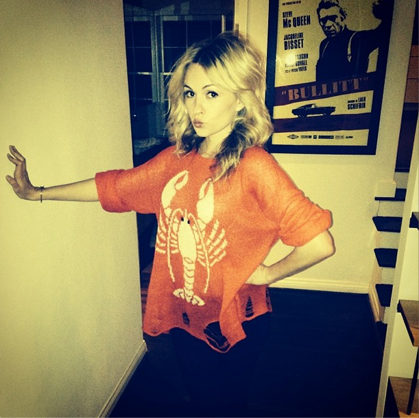 lindsey gort in wildfox lobster jumper at spring 2014 launch party