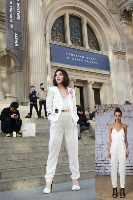 Miriam Yeung in Finders Keepers Someday Jumpsuit Lost League Collection
