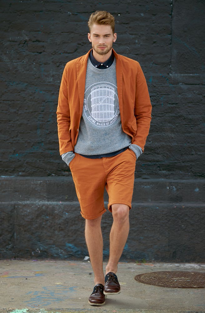 Elvine Lookbook SS14 Sam Jacket Slimson Shorts