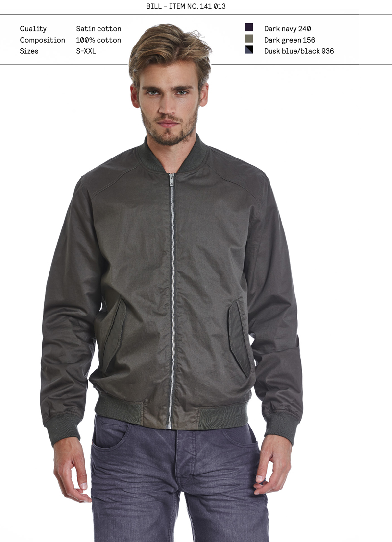 Elvine SS14 menswear jacket Bill
