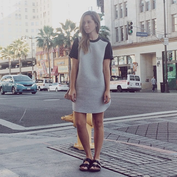 Friend in Fashion Jasmin Howell in the Finders Keepers the Label You Belong To Me T-Shirt Dress from Lost League