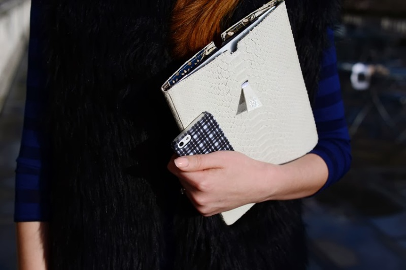 Julia Shutenko Finders Keepers tartan iphone case
