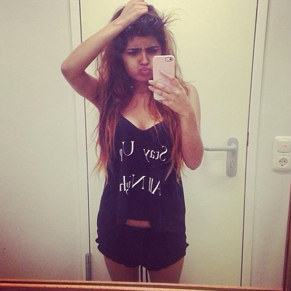 Kavita of She Wears Fashion in the Wildfox Stay Up All Night Pyjama Cami Set