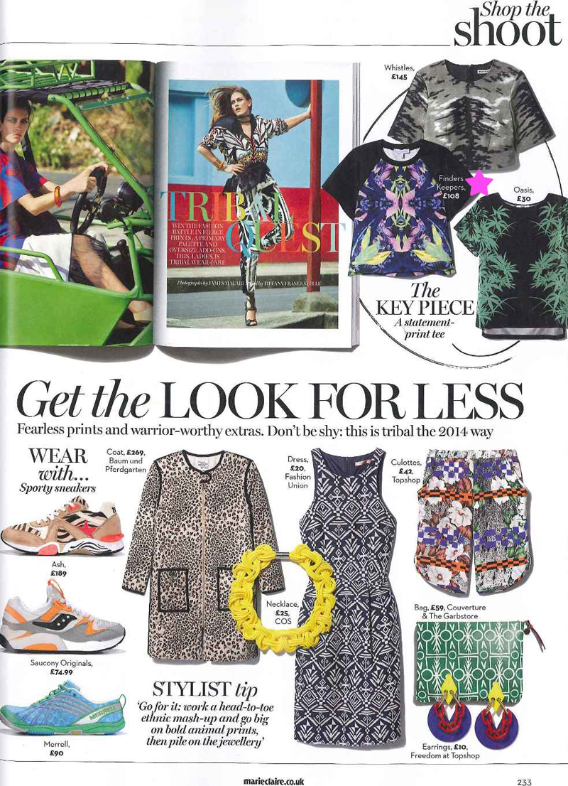 Marie Claire March 2014 Finders Keepers The Graduate collection