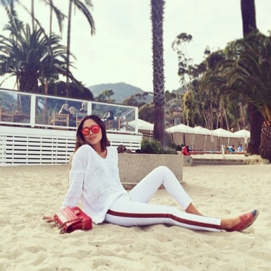 Aimee Song in the Wildfox Sun Classic Fox Deluxe sunnies