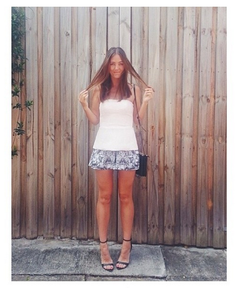 Doone Roisin from She Spoke Style in the Sweet Darling Bustier and the Midnight Lover Shorts