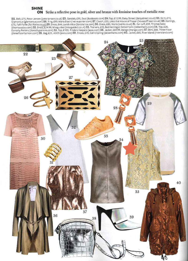 The Goodbye Top from Finders Keepers' Dreamstate Collection featured in the March 2014 issue of InStyle Magazine