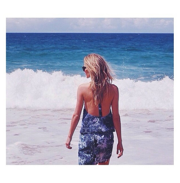 Jennifer Hawkins in Finders Keepers the Label's On And On Top and the Seen It All Skirt from the Inception collection