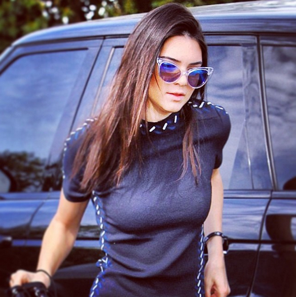 Kendall Jenner in Wildfox Sun Le Femme Deluxe sunnies