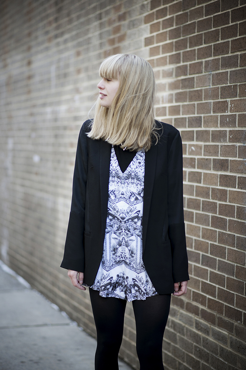 Lisa Dengler from Just Another Fashion Blog in the Here Comes The Sun Playsuit