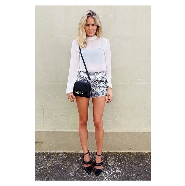 Aussie blogger Maiden Sydney in the Slow Goodbye Shorts by Finders Keepers the Label's Dreamstate collection