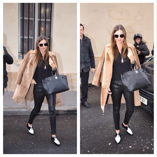 Miranda Kerr in the leather Shya by Genetic Denim