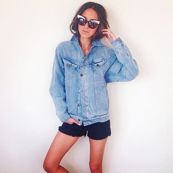 Something Navy in the Wildfox Ruby Cut Offs, the Bianca Jean Jacket and Le Femme 2 sunnies