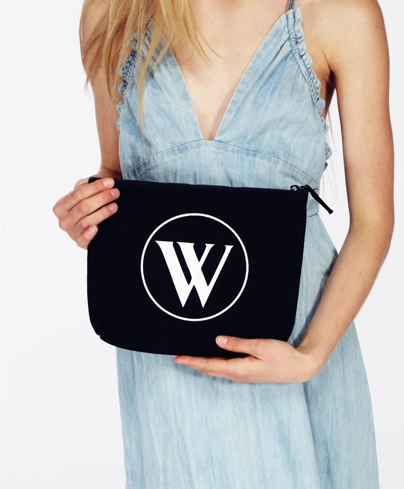 wildfox bel air black canvas bikini bag other side