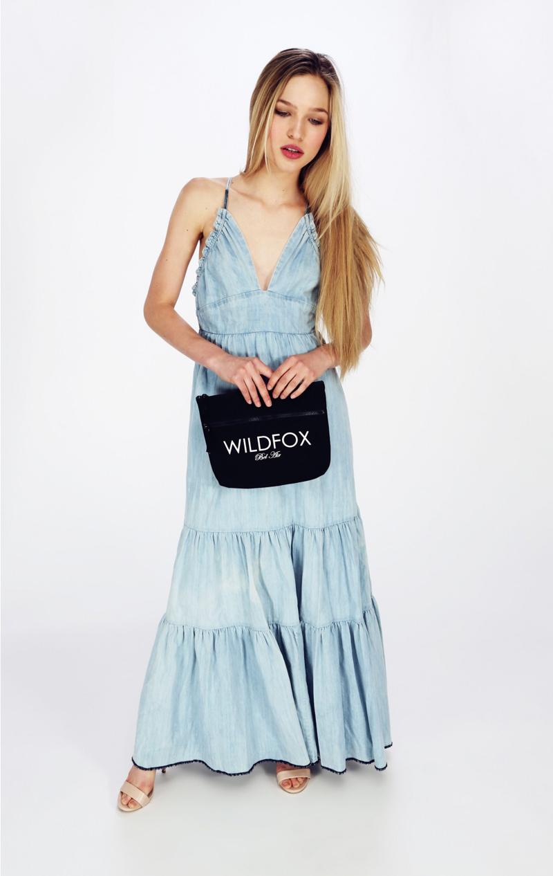 Wildfox Bel Air black canvas bikini bag